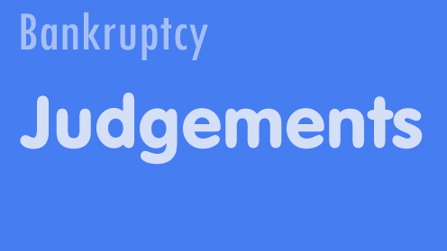 judgments in bankruptcy